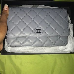 Chanel mini bag grey